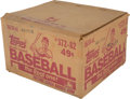 Baseball Cards:Unopened Packs/Display Boxes, 1982 Topps Baseball Unopened Cello Case With Sixteen 24-Count Cello Boxes. ...