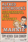 """Movie Posters:Hitchcock, Marnie (Universal, 1964). Folded, Fine/Very Fine. One Sheet (27"""" X 41""""). Hitchcock.. ..."""