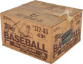 Baseball Cards:Unopened Packs/Display Boxes, 1983 Topps Baseball Unopened Cello Case With Sixteen 24-Count Boxes....