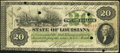 Obsoletes By State:Louisiana, New Orleans, LA- State of Louisiana Nov. 26, 1866 Cr. 27 Very Fine.. ...