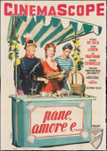 "Movie Posters:Foreign, Scandal in Sorrento (Titanus, 1955). Folded, Fine. Italian 4 - Fogli (54.5"" X 77.25"") Nicola Simbari Artwork. Foreign.. ..."