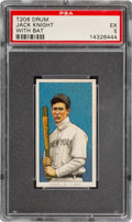 Baseball Cards:Singles (Pre-1930), 1909-11 T206 Drum Jack Knight (With Bat) PSA EX 5 - The Only Confirmed Drum Back! ...