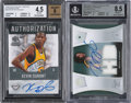 Basketball Cards:Lots, 2007-08 Ultimate Collection Rookie Materials Autograph & 2008-09 SP Rookie Threads Authorization Kevin Durant BGS Graded Pair ... (Total: 2 item)