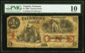 Obsoletes By State:Virginia, Fairmont, VA- Fairmont Bank $1 ? 10, 1861 G6a J-L BF05-06 PMG Very Good 10.. ...