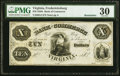 Obsoletes By State:Virginia, Fredericksburg, VA- Bank of Commerce $10 18__ Remainder G4 BF30-16 PMG Very Fine 30.. ...