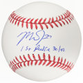 Autographs:Baseballs, Mike Trout Single Signed Baseball With Rookie Inscription. ...