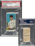 Baseball Cards:Singles (Pre-1930), 1909-11 T206 American Beauty 460 George McQuillan (With Bat) PSA VG-EX 4 - Only Graded Example For Brand! ...