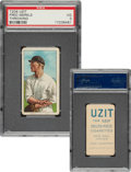 Baseball Cards:Singles (Pre-1930), 1909-11 T206 Uzit Fred Merkle (Throwing) PSA VG 3 - Only One Higher For Brand. ...