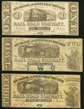 Obsoletes By State:Louisiana, New Orleans, LA- New Orleans, Jackson & Great Northern Rail Road Company $1; $2; $3 Nov. 16, 1861 Fine or Better.. ... (Total: 3 notes)