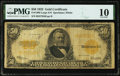 Large Size:Gold Certificates, Fr. 1200 $50 1922 Gold Certificate PMG Very Good 10.. ...