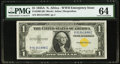 Small Size:World War II Emergency Notes, Fr. 2306 $1 1935A North Africa Silver Certificate. PMG Choice Uncirculated 64.. ...