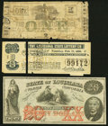 Obsoletes By State:Louisiana, Baton Rouge, LA- City of Baton Rouge $1 circa 1860s Very Good;. New Orleans, LA- Louisiana State Lottery One Class B... (Total: 3 notes)