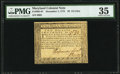 Colonial Notes:Maryland, Maryland December 7, 1775 $2 2/3 PMG Choice Very Fine 35.. ...