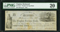 Obsoletes By State:Virginia, Richmond, VA- Peoples Savings Bank 25¢ Sep. 3, 1861 J-L BR75-05 PMG Very Fine 20.. ...