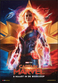 "Movie Posters:Action, Captain Marvel (Walt Disney Studios, 2019). Rolled, Very Fine+. Dutch One Sheet (27.5"" X 39.5"") DS Advance. Action.. ..."