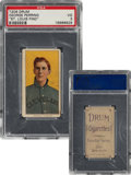 Baseball Cards:Singles (Pre-1930), 1909-11 T206 Drum George Perring PSA VG 3 - Only One PSA-Graded Drum Back! ...