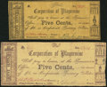 Obsoletes By State:Louisiana, Plaquemine, LA- Corporation of Plaquemine 5¢ Mar. 1, 1862, Two Examples Fine.. ... (Total: 2 notes)