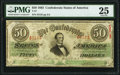 Confederate Notes:1863 Issues, T57 $50 1863 PF-1 Cr. 406 PMG Very Fine 25.. ...