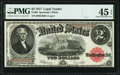 Large Size:Legal Tender Notes, Fr. 60 $2 1917 Legal Tender PMG Choice Extremely Fine 45 EPQ.. ...