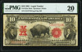 Large Size:Legal Tender Notes, Fr. 122 $10 1901 Mule Legal Tender PMG Very Fine 20.. ...