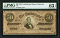 Confederate Notes:1864 Issues, T66 $50 1864 PF-2 Cr. 496 PMG Choice Uncirculated 63 EPQ.. ...