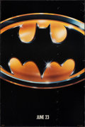 """Movie Posters:Action, Batman (Warner Bros., 1989). Rolled, Fine+. One Sheet (27"""" X 40.5"""") SS Advance. Action.. ..."""
