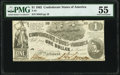 Confederate Notes:1862 Issues, T44 $1 1862 PF-3 Cr. 341 PMG About Uncirculated 55.. ...