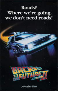 "Back to the Future Part II (Universal, 1989). Rolled, Very Fine. Commercial Poster (25"" X 39"") SS Advance, &qu..."