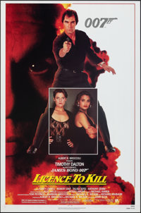 """Licence to Kill (United Artists, 1989). Rolled, Very Fine+. One Sheet (27"""" X 41"""") SS, Regular & Advance. J..."""