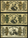Fractional Currency:Third Issue, Fr. 1331 50¢ Third Issue Spinner Very Fine;. Fr. 1339 50¢ Third Issue Spinner Very Fine;. Fr. 1366 50¢ Third Issue Spi... (Total: 3 notes)
