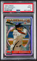 Baseball Cards:Singles (1970-Now), 1993 Finest Refractor Jeff Bagwell #11 PSA Mint 9....