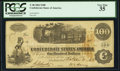 Confederate Notes:1862 Issues, T40 $100 1862 PF-1 Cr. 298 PCGS Very Fine 35.. ...