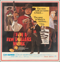 "For a Few Dollars More (United Artists, 1967). Fine- on Linen. Six Sheet (78.5"" X 81""). David Blossom Artwork..."