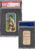 Baseball Cards:Singles (Pre-1930), 1909-11 T206 Drum Heinie Smith (Buffalo) PSA VG 3 - The Only PSA-Graded Drum Back! ...