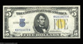 Small Size:World War II Emergency Notes, Fr. 2307 $5 1934A North Africa Silver Certificate. Very ...