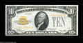 Small Size:Gold Certificates, Fr. 2400 $10 1928 Gold Certificate. Very Choice Crisp ...