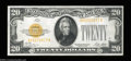 Small Size:Gold Certificates, Fr. 2402 $20 1928 Gold Certificate. About Uncirculated.