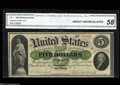 Large Size:Demand Notes, Fr. 1 $5 1861 Demand Note CGA About Uncirculated 58. This ...