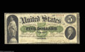 Large Size:Demand Notes, Fr. 1 $5 1861 Demand Note Fine. Well circulated but ...