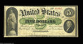 Large Size:Demand Notes, Fr. 2 $5 1861 Demand Note Fine. The note has super color, ...