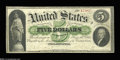 Large Size:Demand Notes, Fr. 2 $5 1861 Demand Note Fine. Both of the hand-signed ...