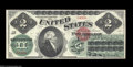 Large Size:Legal Tender Notes, Fr. 41 $2 1862 Legal Tender Choice Extremely Fine. This ...