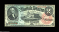 Large Size:Legal Tender Notes, Fr. 42 $2 1869 Legal Tender Very Choice New. This Rainbow ...