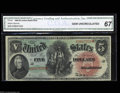 Large Size:Legal Tender Notes, Fr. 64 $5 1869 Legal Tender CGA Gem Uncirculated 67. ...