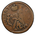 (1670-75) FARTH St. Patrick Farthing Fine 15 PCGS. PCGS Population: (17/187 and 0/0+). NGC Census: (8/45 and 0/0+). CDN:...