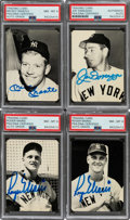 Autographs:Sports Cards, Signed 1981 San Diego Collectors Show Mantle, Maris, DiMaggio Card Collection (4). ... (Total: 5 items)