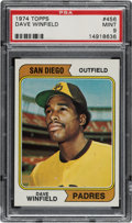 Baseball Cards:Singles (1970-Now), 1974 Topps Dave Winfield #456 PSA Mint 9. ...