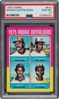 Baseball Cards:Singles (1970-Now), 1975 Topps Rookie Outfielders Jim Rice #616 PSA Gem Mint 10 - Pop Seven. ...