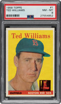 Baseball Cards:Singles (1950-1959), 1958 Topps Ted Williams #1 PSA NM-MT 8. ...