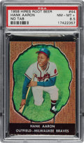Baseball Cards:Singles (1950-1959), 1958 Hires Root Beer Hank Aaron (No Tab) #44 PSA NM-MT+ 8.5 - Pop One, None Higher. ...